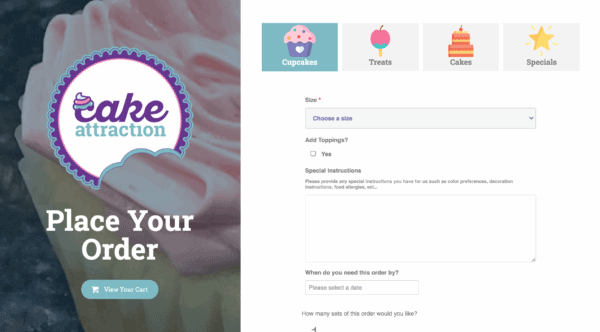 Cake Attraction Ecommerce
