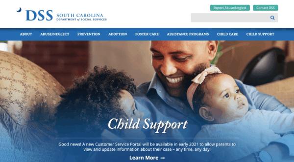 South Carolina DSS homepage
